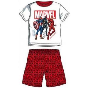 Pijamale baieti Avengers rosu