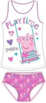 Set maieu cu chiloti Peppa Pig alb