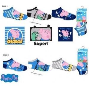 Sosete Peppa Pig 1 (set 3 perechi) albastru