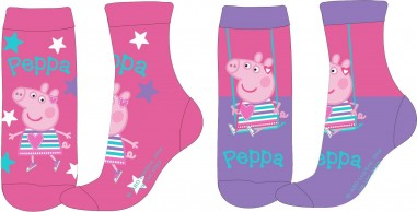 Sosete copii Peppa Pig(set 2 perechi)