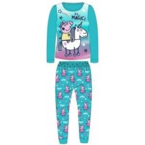 Pijamale Peppa pig turcoaz