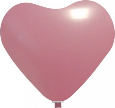 Balon latex inima 65 cm roz deschis