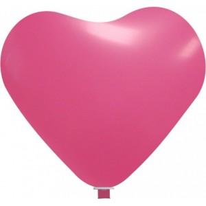 Balon latex inima 65 cm roz
