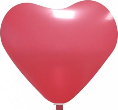 Balon latex inima 90 cm rosu