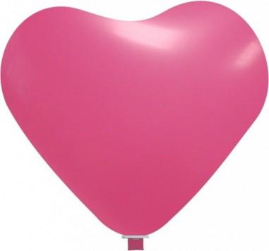Balon latex inima 90 cm roz