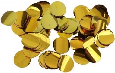Confetti 10 mm rotund 250 gr. gold metalic