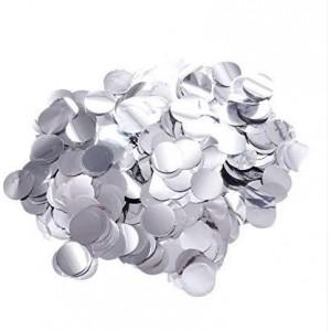 Confetti 10 mm rotund 250 gr silver metalic