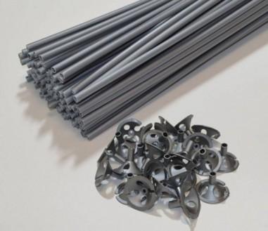 sticks argintii pentru baloane