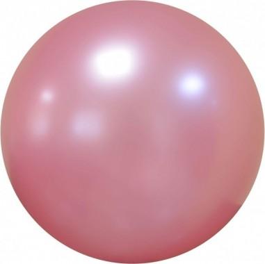 Balon chrome bubble roz 46 cm