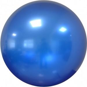 Balon chrome bubble albastru 46 cm