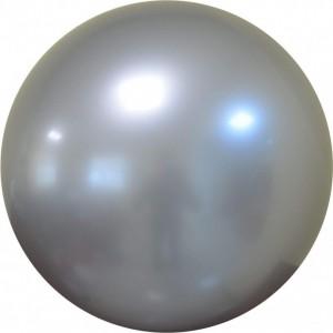 Balon chrome bubble argintiu 46 cm