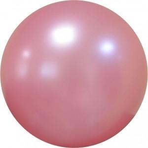 Balon chrome bubble roz 61 cm