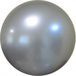 Balon chrome bubble argintiu 61 cm