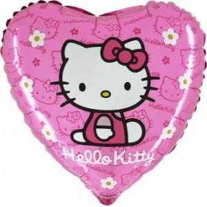 Baloane folie 45 cm RD Hello Kitty Flowers roz