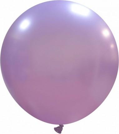 Balon latex 45 cm liliac metalizat
