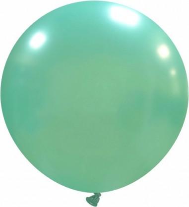 Balon latex 45 cm aqua metalizat