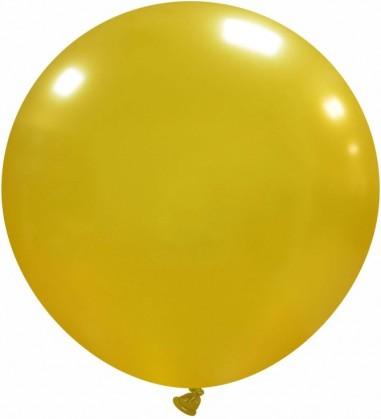 Balon latex 45 cm auriu metalizat