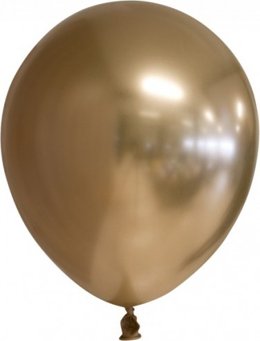 Balon latex chrome 30 cm auriu