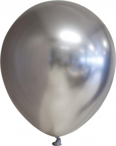 Balon latex chrome 30 cm argintiu