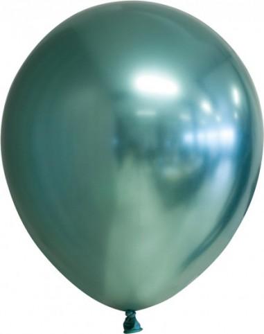 Balon latex chrome 30 cm verde