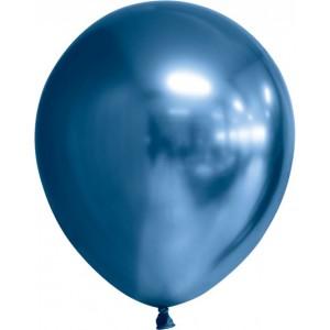 Balon latex chrome 30 cm albastru