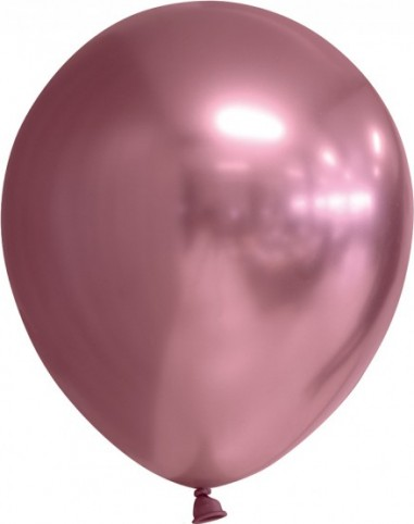Balon latex chrome 30 cm roz