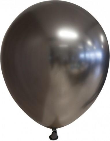 Balon latex chrome 30 cm negru