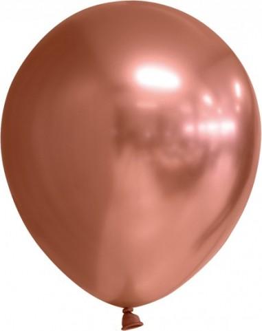 Balon latex chrome, 30 cm, copper