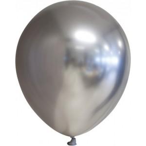 Balon latex chrome 15 cm argintiu