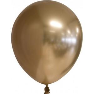 Balon latex chrome 15 cm auriu