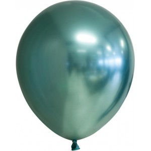 Balon latex chrome 15 cm verde