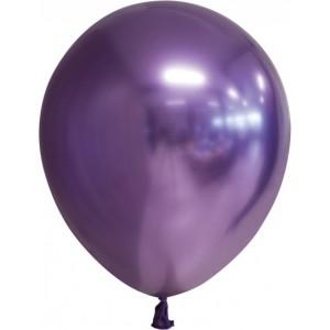 Balon latex chrome 15 cm mov