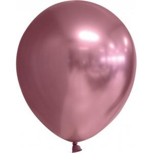 Balon latex chrome 15 cm roz