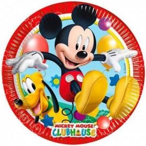 Set 8 farfurii plastic Minnie, 20 cm