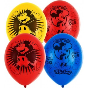 Set 6 baloane latex Mickey Mouse 27.5 cm