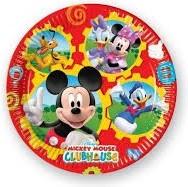 Set 8 farfurii carton Mickey Mouse, 20 cm