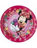 Set 8 farfurii carton Minnie Mouse, 23 cm