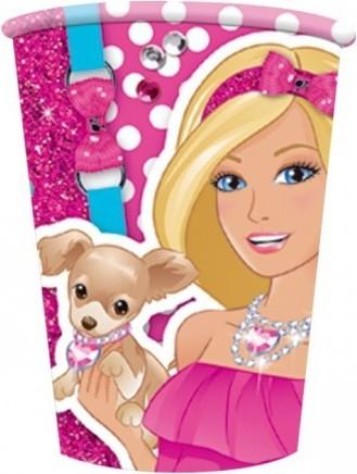 Set 8 pahare carton, Barbie, 200 ml