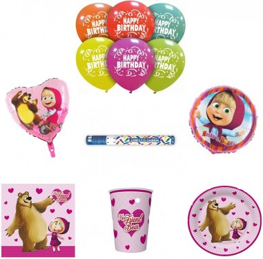 Set articole party fetita si ursul