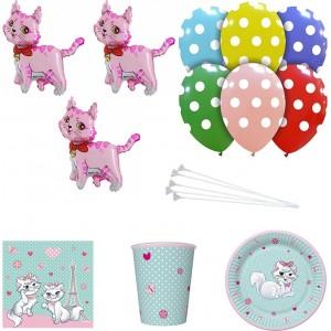 Set articole party pisica roz
