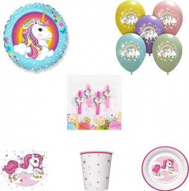 Set articole party unicorn