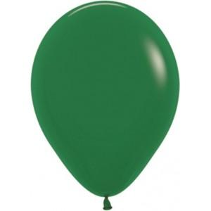 Balon latex standard, 30 cm, verde inchis