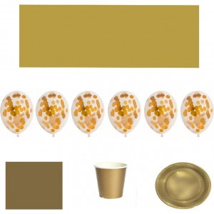 Set articole party auriu
