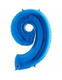Baloane Figurina Cifra 9 Blue Dimensiunea 100 Cm