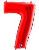 Baloane Figurina Cifra 7 Rosu Dimensiunea 100 Cm