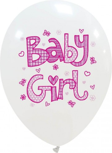 Set 6 latex 30 cm imprimat baby girl
