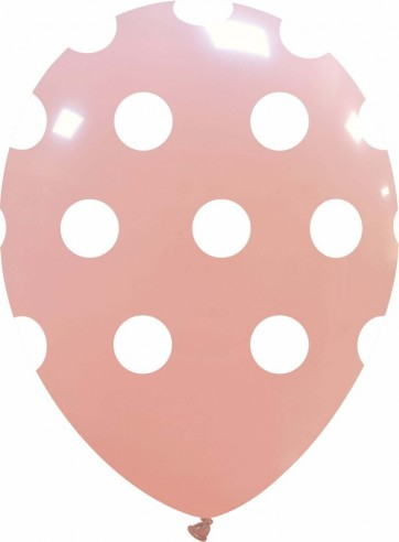 Balon latex 30 cm baby pink imprimat buline