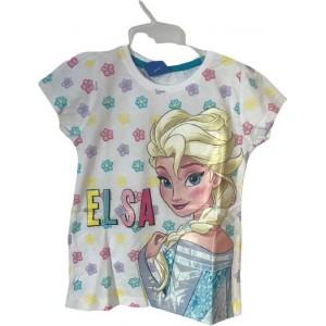 Tricou pentru copii Frozen Elsa, alb