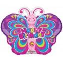 Balon mini figurina Happy Birthday fluture 30 cm