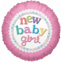 Balon mini figurina new baby girl 23 cm